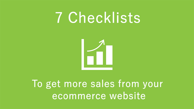 7 checklist for ecommerce sales