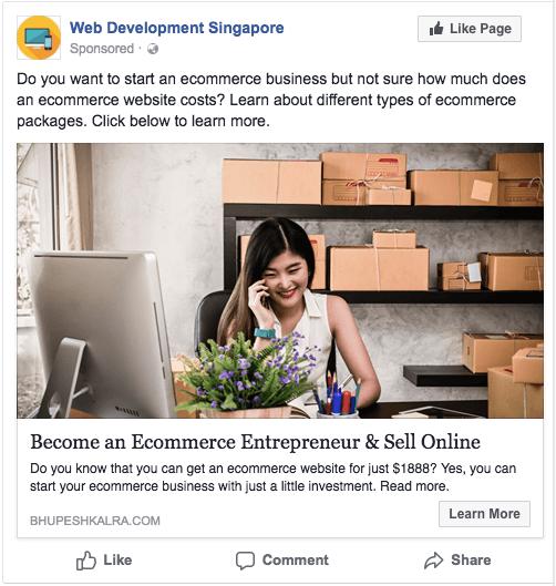 facebook advertising for ecommerce website development