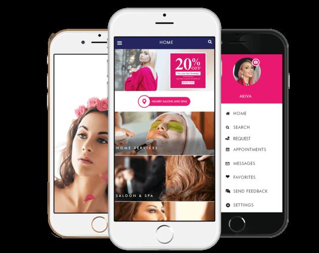 mobile application development for salon business