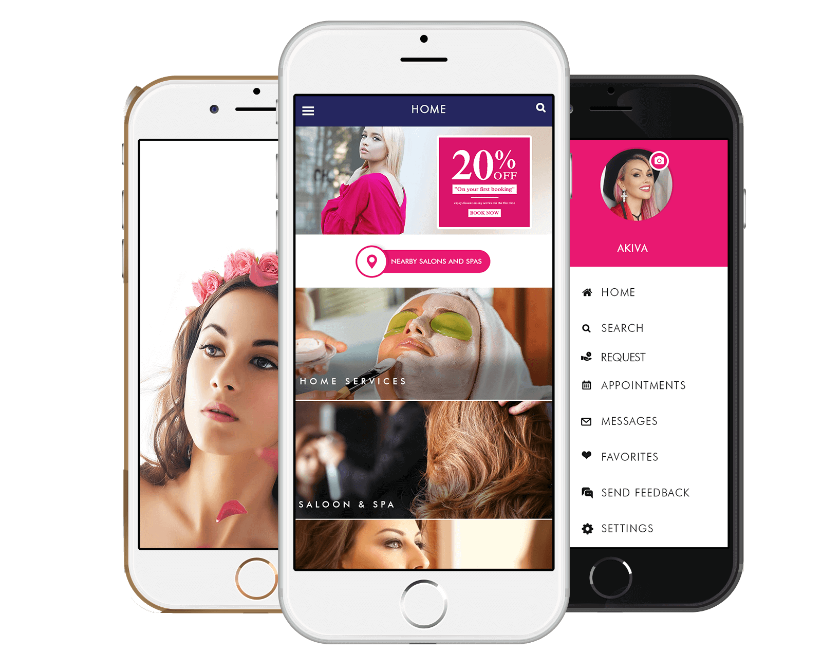 mobile application development for salon business