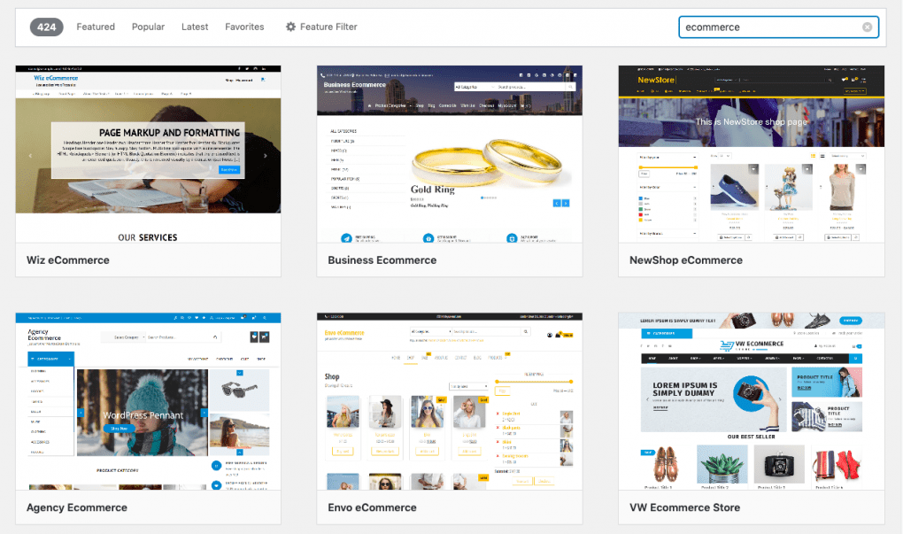 search ecommerce theme wordpress woocommerce