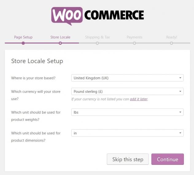 store setup woocommerce website