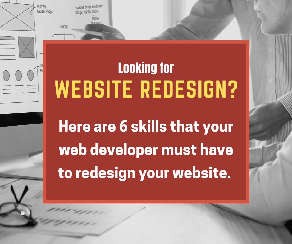 6 Skills that your website developer must have to redesign your website
