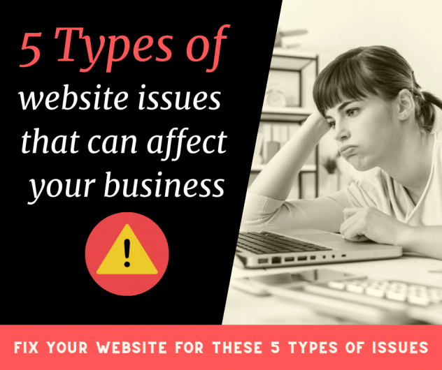 5 types of issues that you must avoid on your website