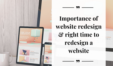 Importance and right time for website redesign