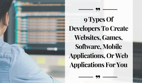 9 Types of developers to create websites or web applications for you