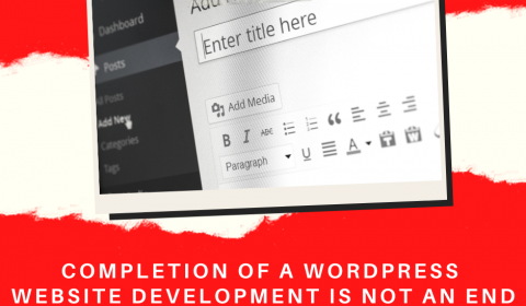 Completion of a WordPress website is not an end. It's just a beginning…